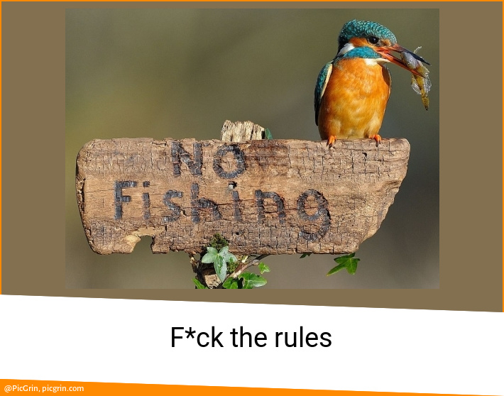 F*ck the rules
