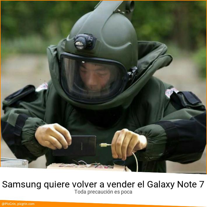 Samsung quiere volver a vender el Galaxy Note 7