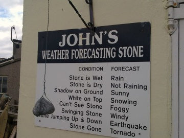 John's weather forecasting stone