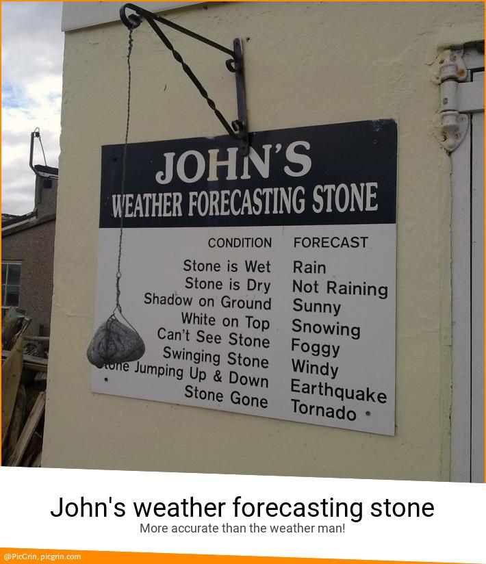 John's weather forecasting stone