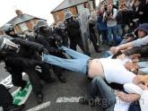 Tregua entre policía y manifestantes