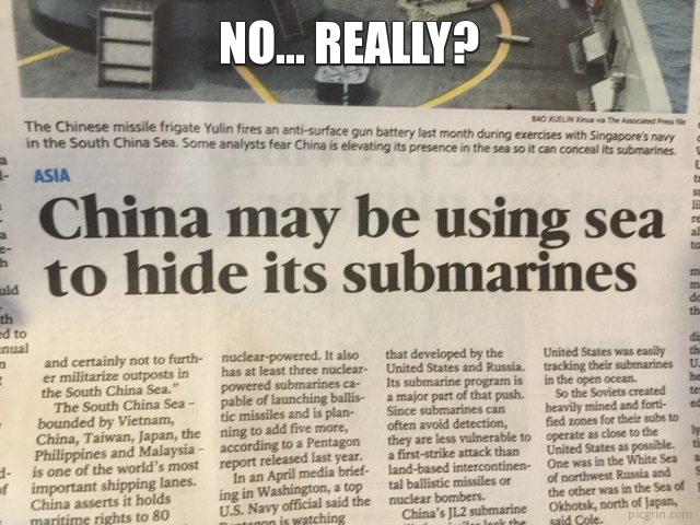 No... really?