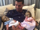 First picture of Ronaldo and his baby twins