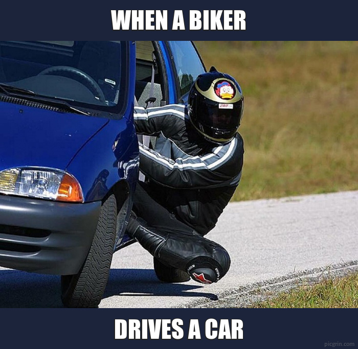When a biker