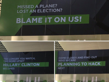 Signs in Moscow airport