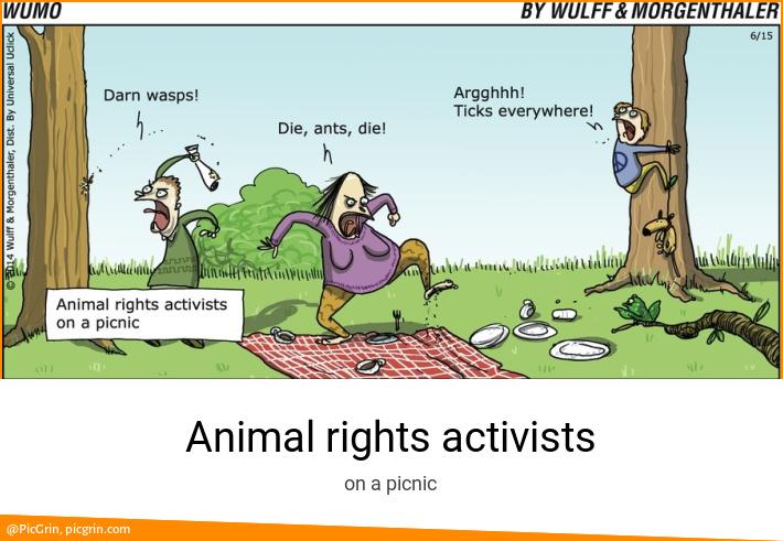 Animal rights activists