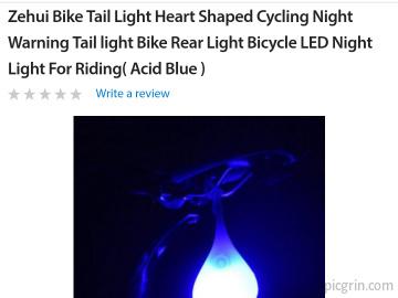 """Heart shaped cycling night light"""