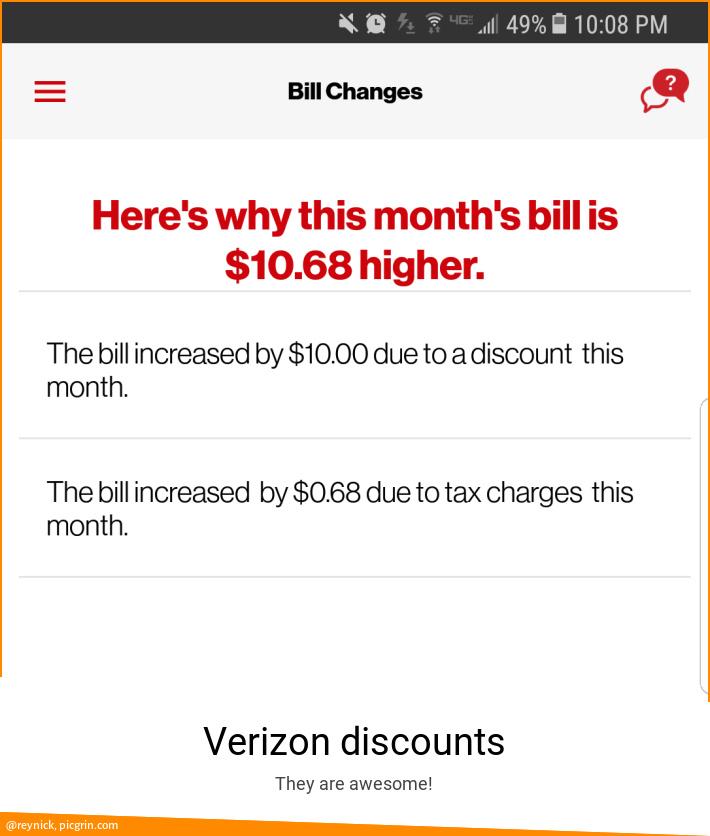 Verizon discounts