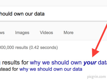 Well, Google...