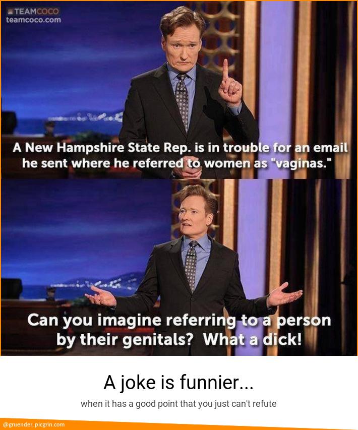 A joke is funnier...