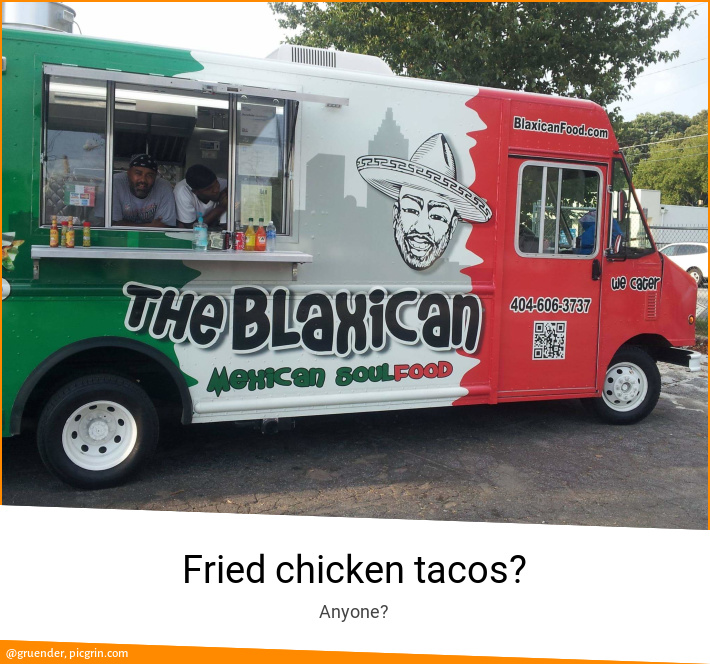 Fried chicken tacos?