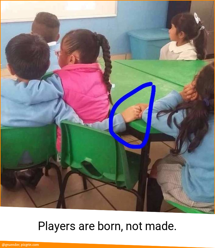 Players are born, not made.
