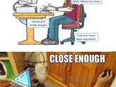 How you should sit at a computer