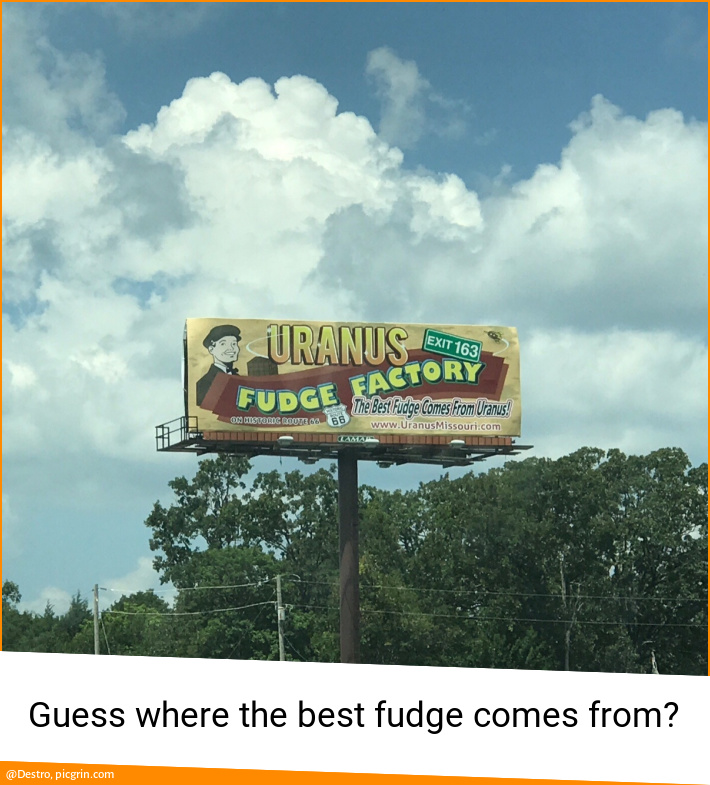 Guess where the best fudge comes from?