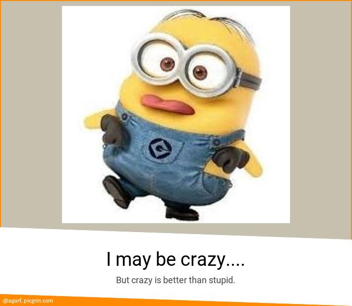 I may be crazy....