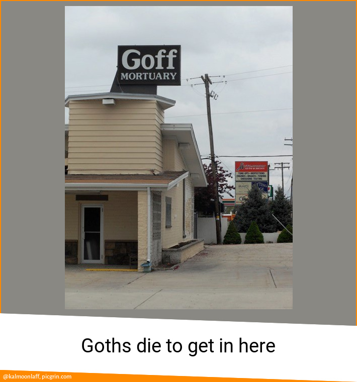 Goths die to get in here