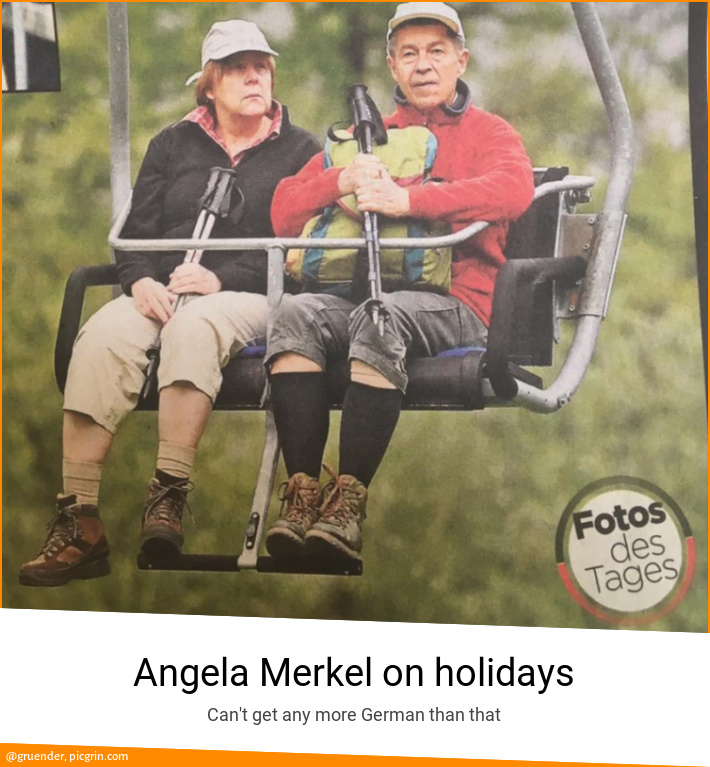 Angela Merkel on holidays