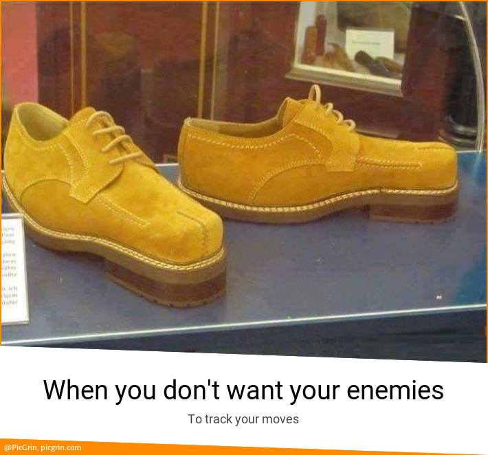 When you don't want your enemies