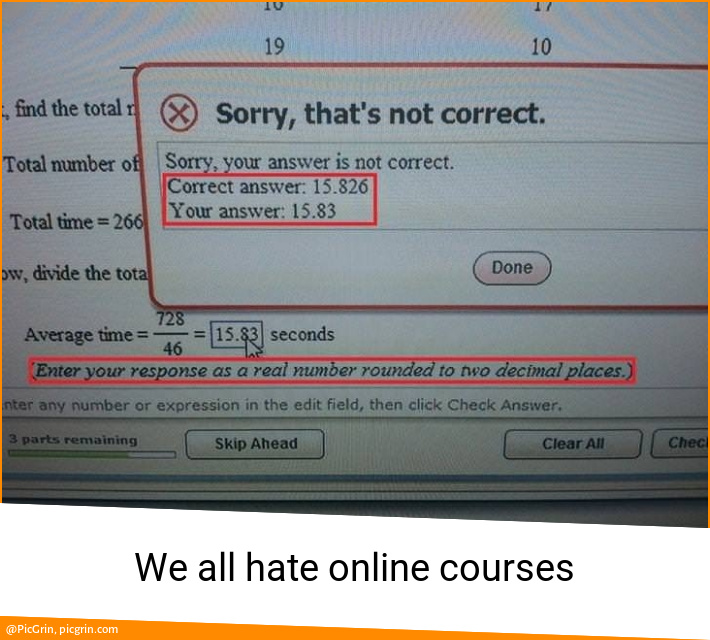 We all hate online courses