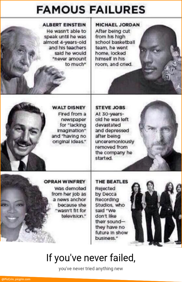If you've never failed,