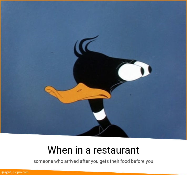 When in a restaurant
