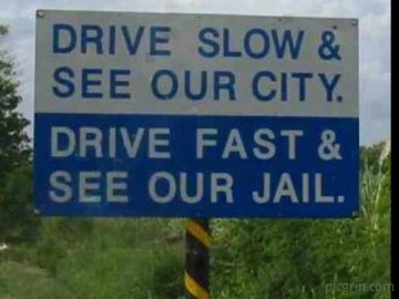 Savage road sign