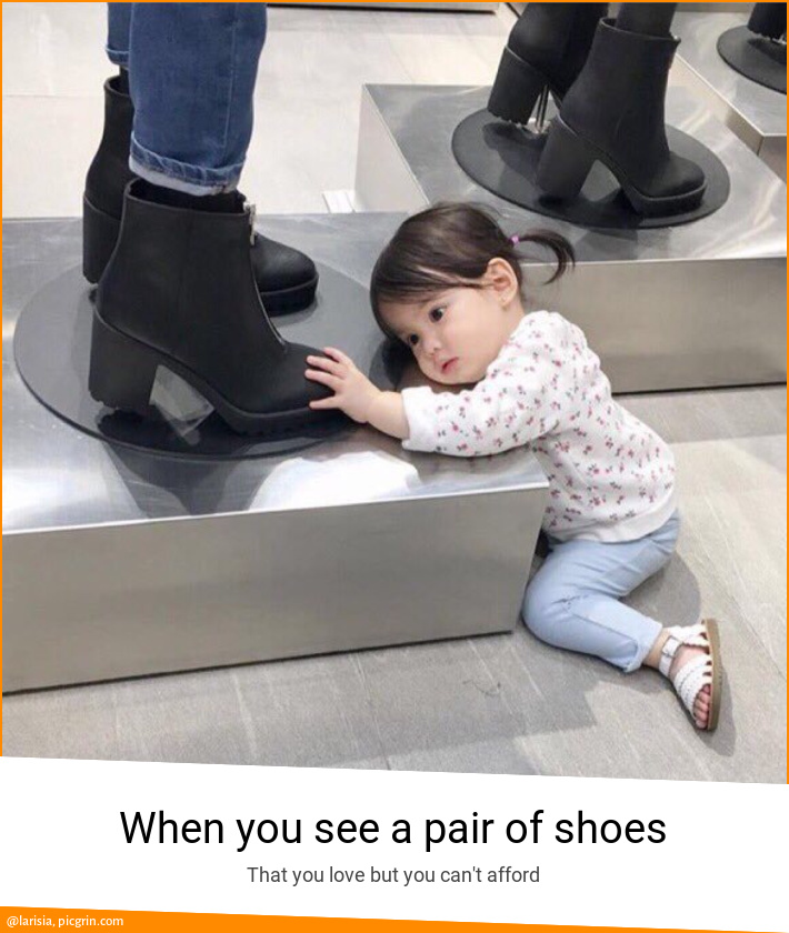 When you see a pair of shoes