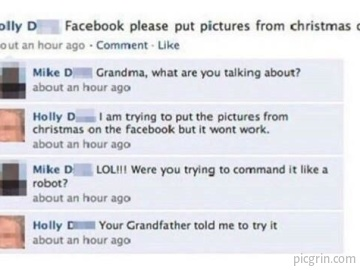 Old people on Facebook