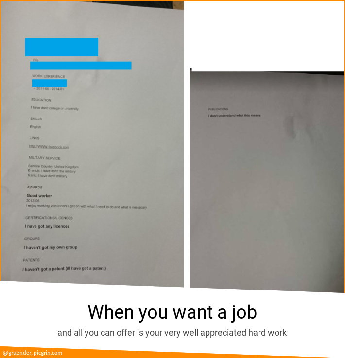 When you want a job