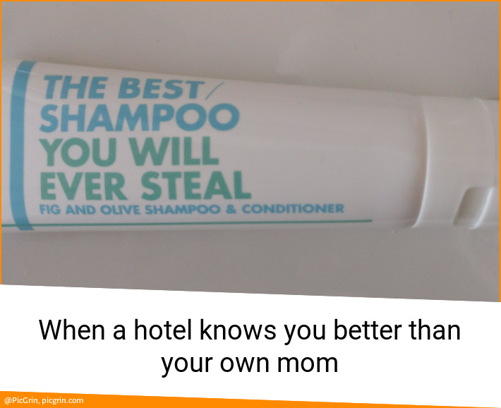 When a hotel knows you better than your own mom