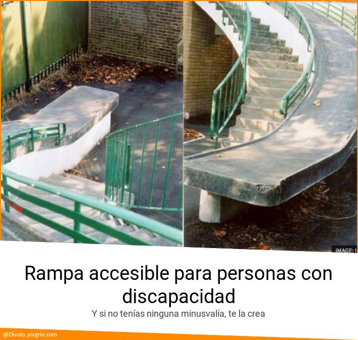 Rampa Accesible Para Personas Con Discapacidad Picgrin