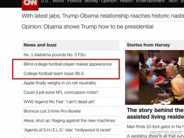 Poor headline placement