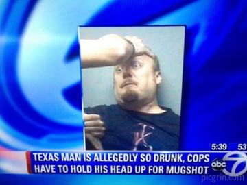 Drunk Texas man wins mugshot of the year