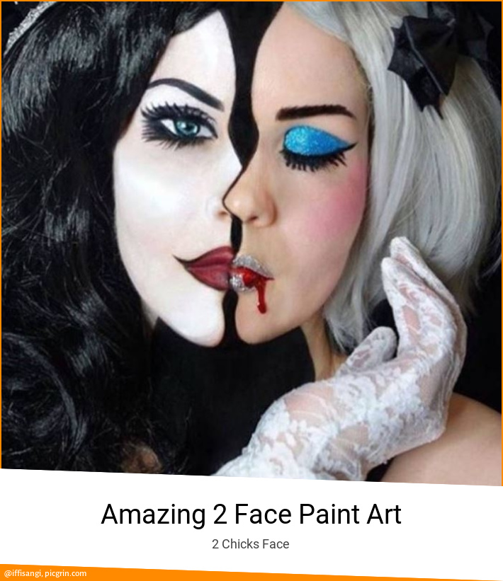 Amazing 2 Face Paint Art
