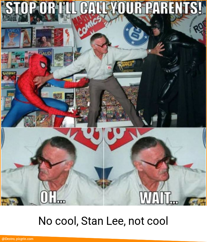 No cool, Stan Lee, not cool
