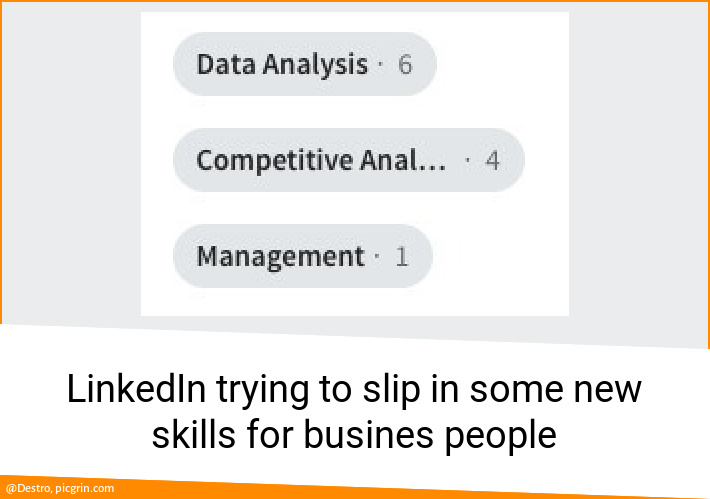 LinkedIn trying to slip in some new skills for busines people