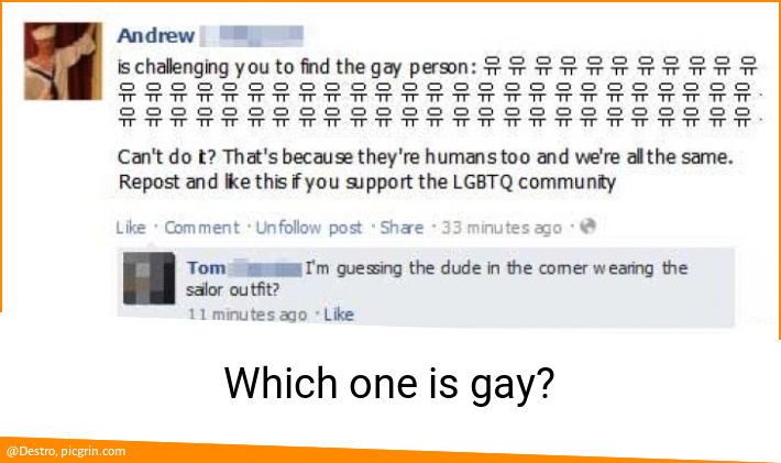 Which one is gay?