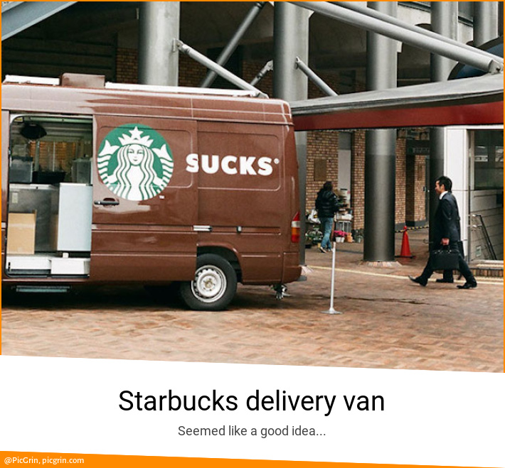 Starbucks delivery van