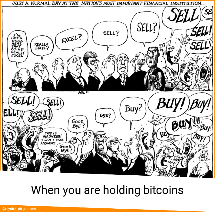 When you are holding bitcoins