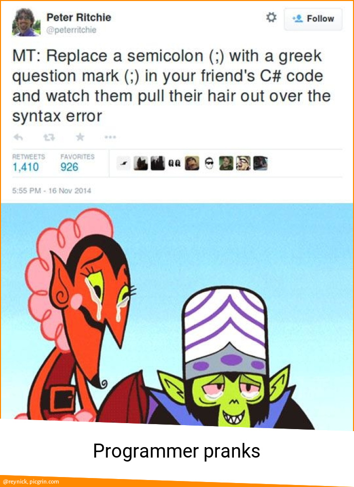 Programmer pranks