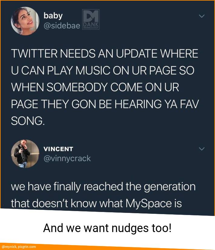 And we want nudges too!
