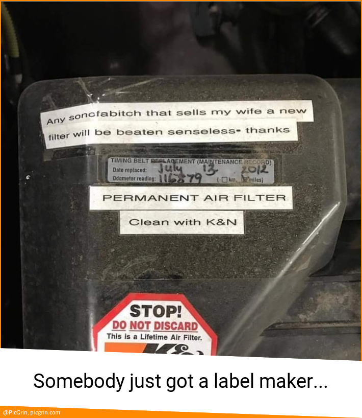 Somebody just got a label maker...