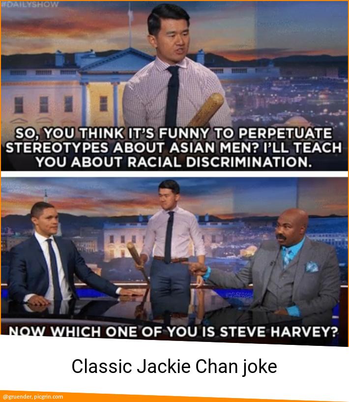 Classic Jackie Chan joke