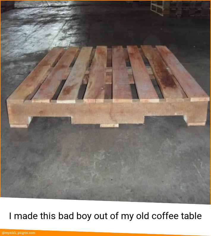 I made this bad boy out of my old coffee table