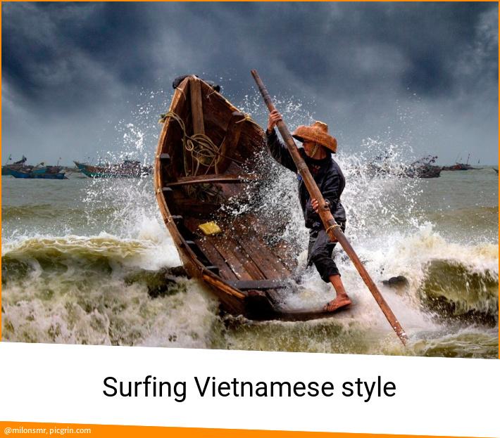 Surfing Vietnamese style
