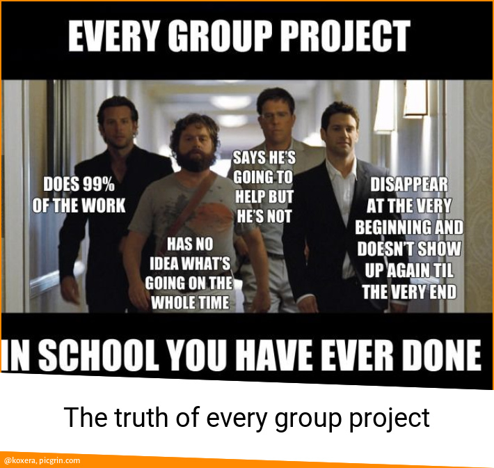 The truth of every group project