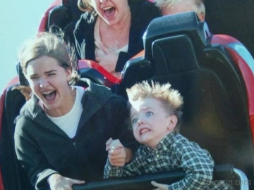 My first time on roller coaster